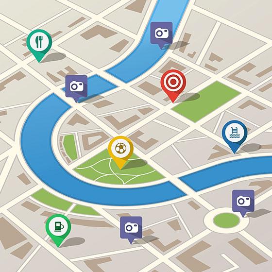 gps city map illustration