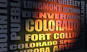 Colorado cities word cloud