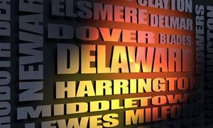 Delaware cities word cloud