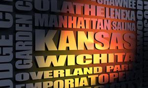 Kansas cities word cloud