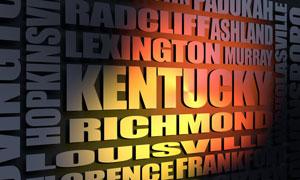 Kentucky cities word cloud