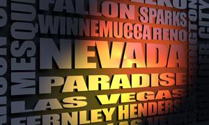 Nevada cities word cloud