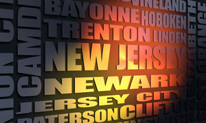 New Jersey cities word cloud
